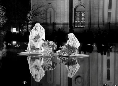 SLC_Temple_Nativity_BW